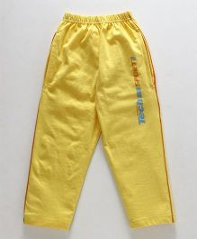 Taeko Full Length Track Pant Tech Sport Print - Yellow