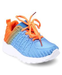 Cute Walk by Babyhug Lace Up Sports Shoes - Sky Blue Orange