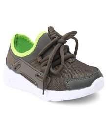 Cute Walk by Babyhug Lace Up Sports Shoes -  Grey Brown