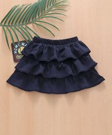 Babyhug Short Length Frilled Skirt - Blue