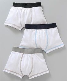 Babyoye Solid Colour Boxer Briefs Pack of 3 - White