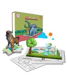 Scifikids Augmented Reality Arnimals Educational Kit - Green