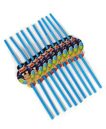 Chhota Bheem Straws Pack Of 10 - Blue