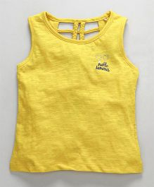Vitamins Sleeveless Tee Hello Summer Patch - Yellow
