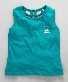 Vitamins Sleeveless Tee Hello Summer Patch - Dark Cyan