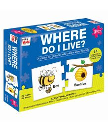 Braino Kids Where Do I Live Jigsaw Puzzle Multi Color - 24 Pieces