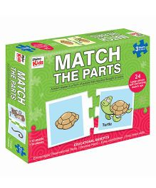 Braino Kids Match The Parts Jigsaw Puzzle Multi Color - 24 Pieces