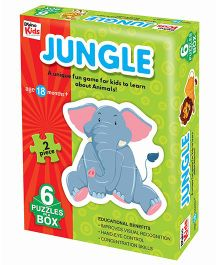 Braino Kids Jungle Jigsaw Puzzle Multi Color - 6 Puzzle