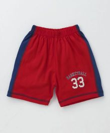 Ollypop Shorts Basketball Print - Red