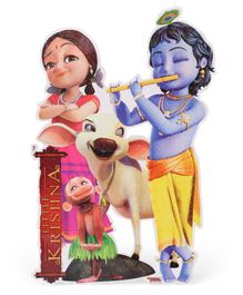 Sticker Bazaar Little Krishna With Radha Sticker Cut Out - Multi Color