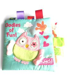2 Footya Oodles Of Fun Cloth Story Book - Light Blue Multi Colour