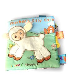 2 Footya Sherbert's Silly Farm Cloth Story Book - Multi Colour Cream