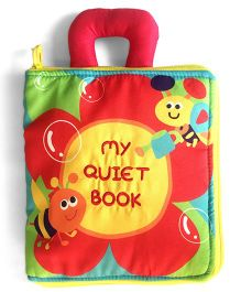 2 Footya Quiet Book Cloth Story Book - Red Multi Colour