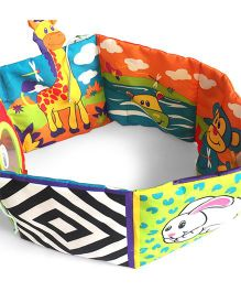 2 Footya Baby Crib Book Cloth Story Book - Multi Colour