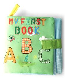 2 Footya Fun Learning Book Cloth Story Book - Green Multi Colour