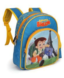 Chhota Bheem School Bag Paris Theme Blue - 12 inches