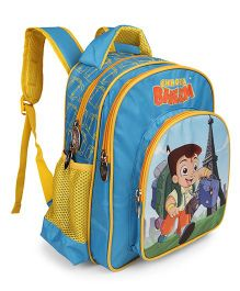 Chhota Bheem School Bag Paris Theme Blue - 14 inches