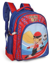 Mighty Raju School Bag Football Theme Red Blue - 18 inches