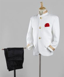 Rikidoos Party Wear Jodhpuri Set - White