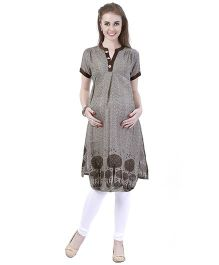 MomToBe Women's Cotton Maternity Kurti - Brown