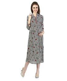 MomToBe Women's Rayon Maternity Dress - Ink Black