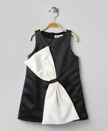 FairiesForever Sleeveless Dress With Bow - Black & White