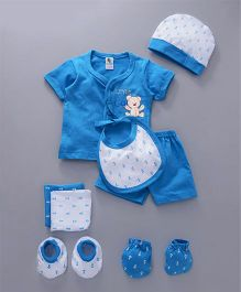 Cucumber Clothing Gift Set of 8 Anchor Print - Blue White