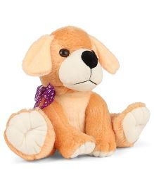 Liviya Sitting Puppy Soft Toy Light Brown - 22 cm