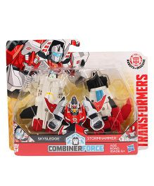 Transformers Combiner Force Skysledge & Stormhammer Figures - White Red