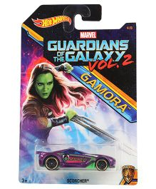Hot Wheels Marvel Scorcher Guardians Of Galaxy Toy Car - Purple
