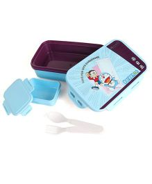 Doraemon Lunch Box - Blue & Purple