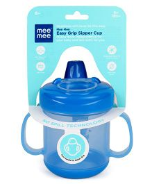 Mee Mee Twin Handle Feeding Sipper Cup With Handle Blue - 180 ml