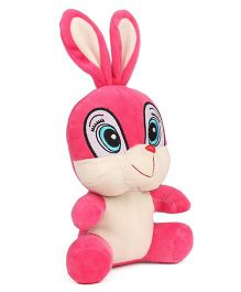 Play Toons Cute Bunny Soft Toy Pink White  - 20 cm