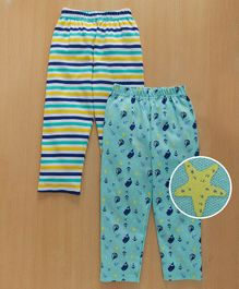 Babyhug Full Length Lounge Pant Pack of 2 - Aqua