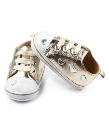 Wow Kiddos Soft Soled Shiny Sneakers - Gold