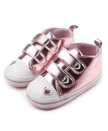 Wow Kiddos Soft Soled Shiny Sneakers - Pink