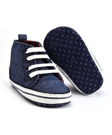 Wow Kiddos High Ankle Canvas Shoes - Blue
