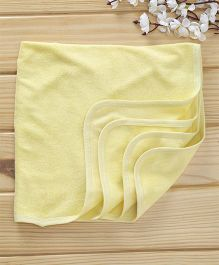 Babyhug Cotton Terry Solid Colour Towel - Light Yellow