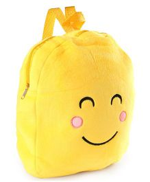 Soft Toy Bag Smiley Design Yellow - 12 inches