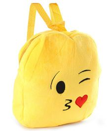 Soft Toy Bag Emoji Design Yellow - 12 inches