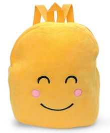 Soft Toy Bag Smiley Design Yellow - 10.2 inches