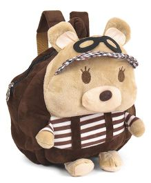 Soft Toy Bag Teddy Bear Design Brown- 9.8 inches