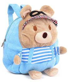 Soft Toy Bag Teddy Bear Design Sky Blue - 9.8 inches