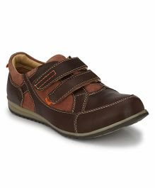 Tuskey Velcro Sneakers Shoe - Brown