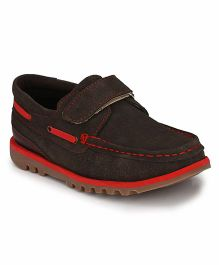 Tuskey Velcro Sneakers Shoe - Coffee