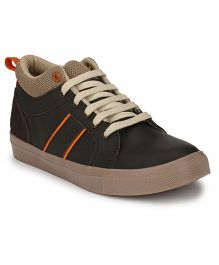 Tuskey Lace Up Sneakers Shoe - Coffee