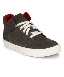Tuskey Lace Up Sneakers Shoe - Grey