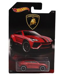 Hot Wheels Lamborghini Toy Car - Red Black