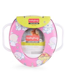 Babyhug Soft Potty Seat With Handle - Pink