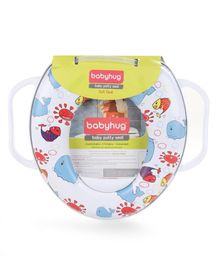 Babyhug Soft Potty Seat With Handle Printed - White